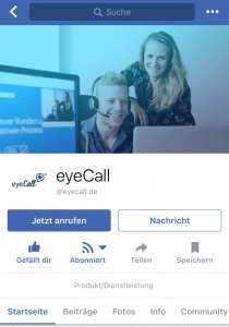 Facebook Account eyeCall